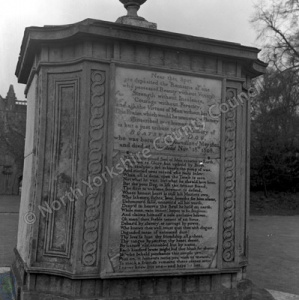 Boatswain Memorial, Newstead Abbey, Notts